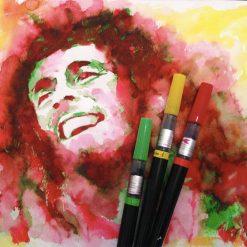 Portrait of Bob Marley ( February 6, 1945 - May 11, 1981)